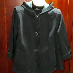 Coldwater Creek denim knit swing jacket